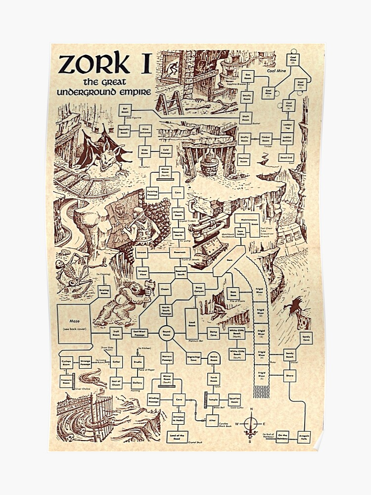 Zork Map | Poster Zork Map on gears of war map, far cry 2 map, pac-man map, sid meier's alpha centauri map, the great maze map, return to zork, civilization map, portal map, zork zero, ace combat map, beyond zork, interactive fiction, zork ii, etrian odyssey map, starcraft map, a mind forever voyaging, proving grounds of the mad overlord, colossal cave adventure, dead ops arcade map, zork: the undiscovered underground, galactic empire map, the lost treasures of infocom, zork: nemesis, small amusement park map, pool of radiance map, myst map, world of warcraft map, metal gear solid map, super mario bros. map, the witcher map,