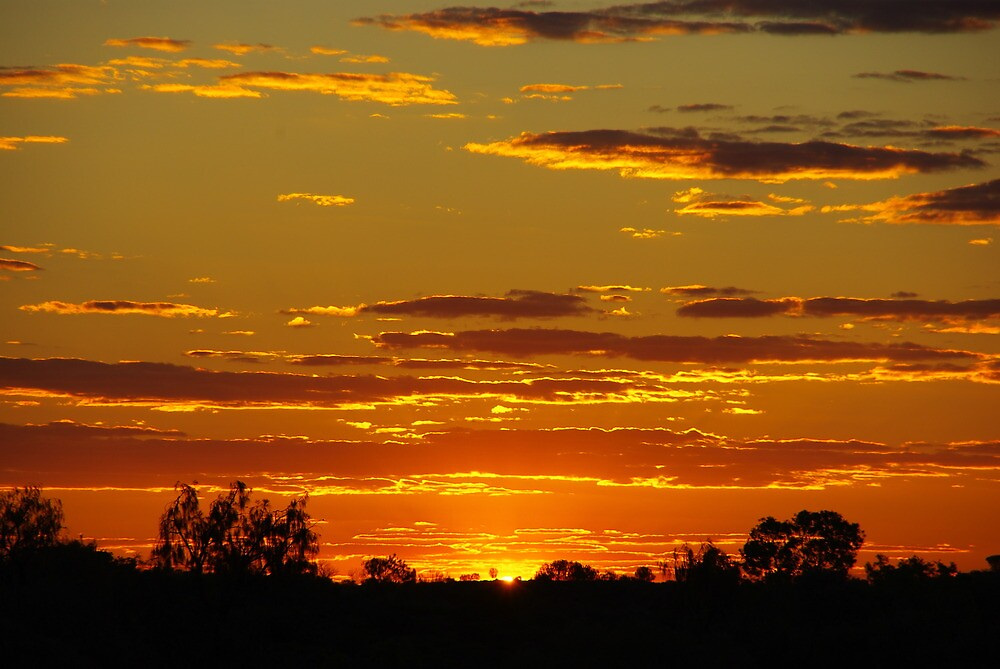 Sunset in NT, Australia by Alexhome007