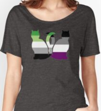 Aro Ace Pride Cats Women's Relaxed Fit T-Shirt