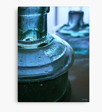 Two Blue Bottles Canvas Print