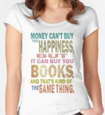 For The Love Of BOOKS! Women's Fitted Scoop T-Shirt