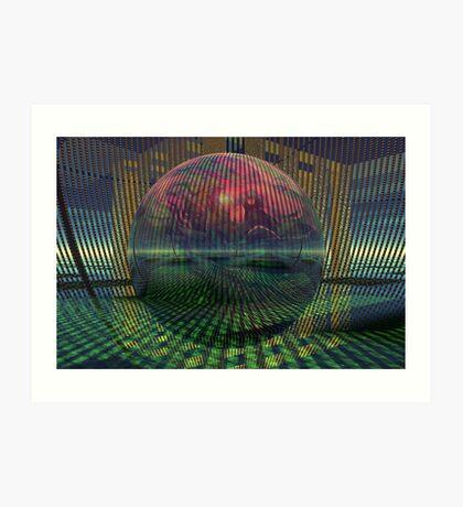Relativity of a sphere // Atomization Art Print