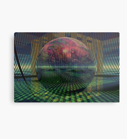 Relativity of a sphere // Atomization Metal Print