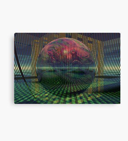 Relativity of a sphere // Atomization Canvas Print