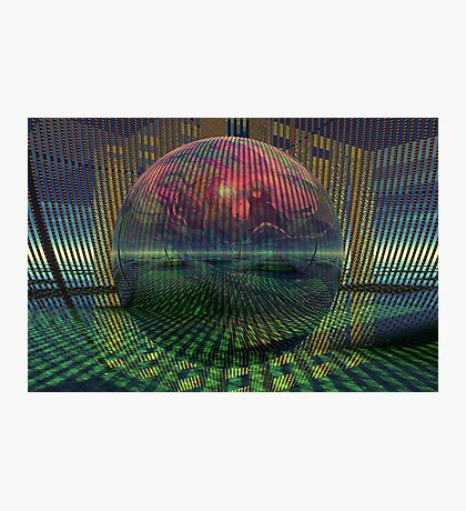 Relativity of a sphere // Atomization Photographic Print