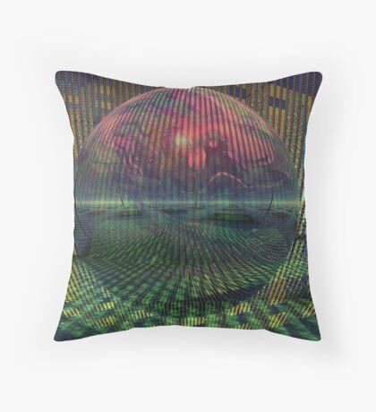 Relativity of a sphere // Atomization Throw Pillow