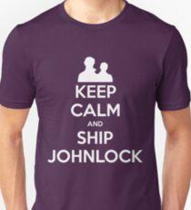 Keep Calm and Ship Johnlock - Tee T-Shirt