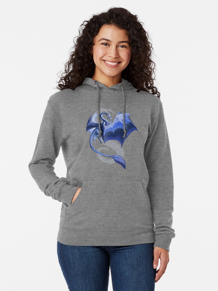 Alternate view of The Dragon of Winter Lightweight Hoodie