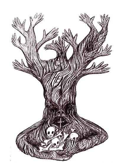 Skull tree by Initially NO