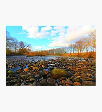 River Tees, Nr Low Coniscliffe, North England. March 2012 Photographic Print