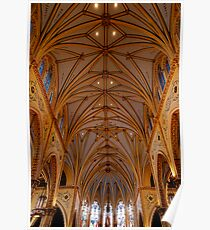 The ceiling of St. Stanislaus church Poster