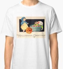 Little Zombie Tommy  (Vintage Halloween Card) Classic T-Shirt