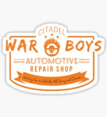 War Boys Auto Repair Sticker