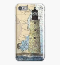 Graves Lighthouse MA Nautical Chart Cathy Peek iPhone Case/Skin