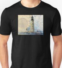 Graves Lighthouse MA Nautical Chart Cathy Peek Unisex T-Shirt