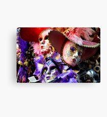 Maschere di Venezia-maschera di carnevale di Venezia Canvas Print