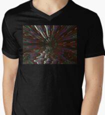Silversun Peacock Sunrise Horizon Men's V-Neck T-Shirt