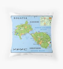 Rogatia: A Drop in the Ocean Throw Pillow
