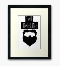 Evil Timeline Framed Print