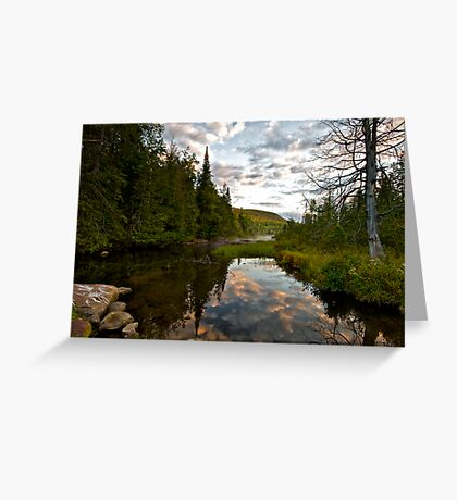 North River Sunrise Greeting Card