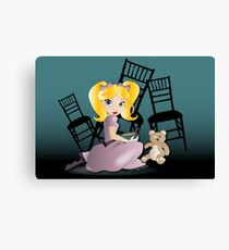 Twisted Tales - Goldilocks Tee and iPhone Case Canvas Print