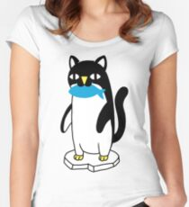 Penguin Cat Women's Fitted Scoop T-Shirt