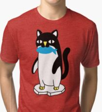 Penguin Cat Tri-blend T-Shirt
