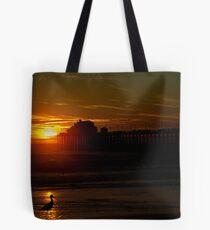 Bird at Sunset Tote Bag