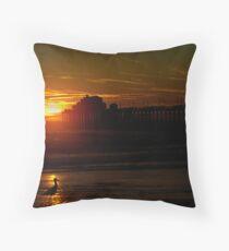 Bird at Sunset Throw Pillow