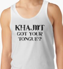 Khajiit 2 Black for low necked T-Shirt