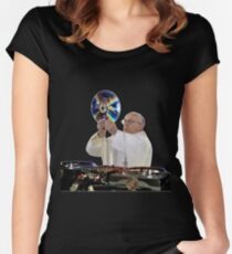 DJ Earth Pope Francis, EDM Holy Father Women's Fitted Scoop T-Shirt