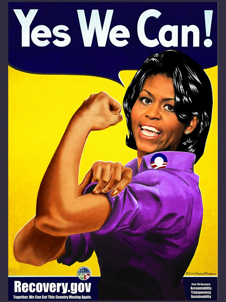 Recovery.gov Michelle Obama as Rosie The Riveter by worn