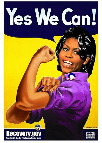 Quot Recovery Gov Michelle Obama As Rosie The Riveter Quot Poster