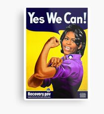 Recovery.gov Michelle Obama as Rosie The Riveter Metal Print