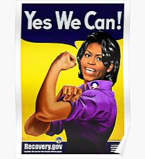 Recovery.gov Michelle Obama as Rosie The Riveter Poster