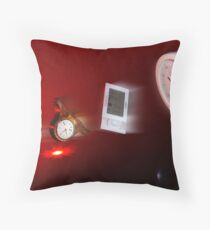 Running Out of Time Throw Pillow