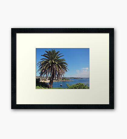 RELAXING - CAMP COVE SYDNEY HARBOUR Framed Print