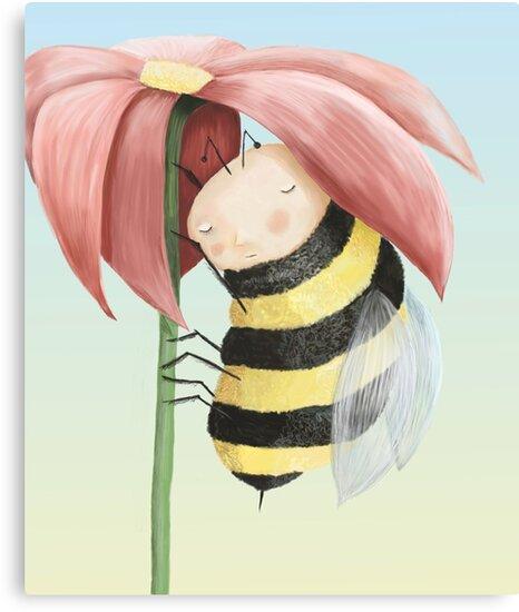 Sleepy Bee by fizzyjinks