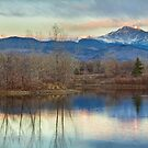 Longs Peak Morning View From Golden Ponds by Bo Insogna