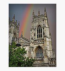 Rainbow over York Minster. Photographic Print