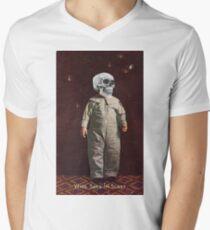 Who Says I'm Scart? (Vintage Halloween Card) Men's V-Neck T-Shirt
