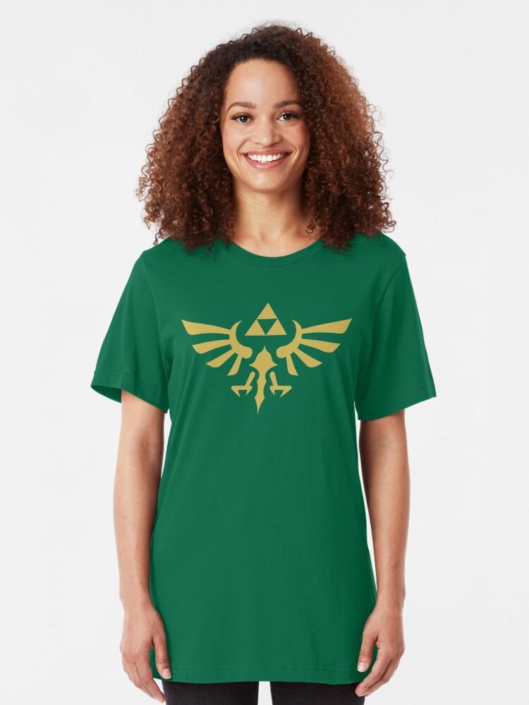 Alternate view of The Legend of Zelda Royal Crest (gold) Slim Fit T-Shirt