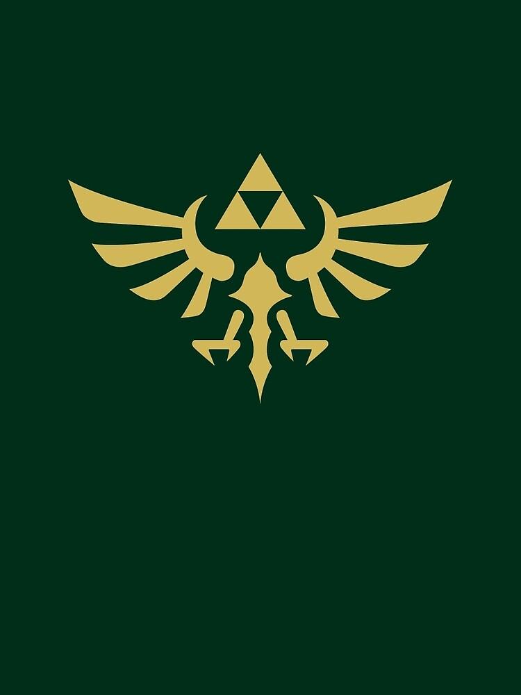 The Legend of Zelda Royal Crest (gold) by hopperograss