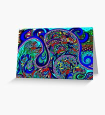 Scuba divers challenge Greeting Card