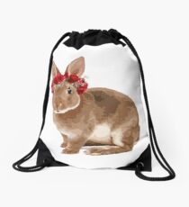 Rossie Rabbit Drawstring Bag