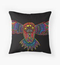 Black owl Throw Pillow