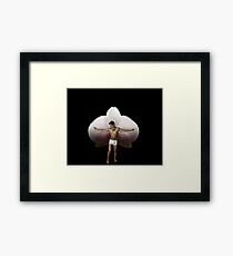 On Orchid Wings Framed Print