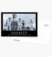 Loyalität: Inspirierend Zitat und motivierend Plakat Postkarten