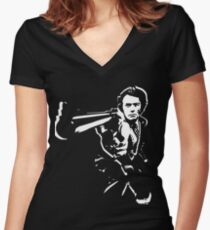 dirty harry t-shirt Women's Fitted V-Neck T-Shirt