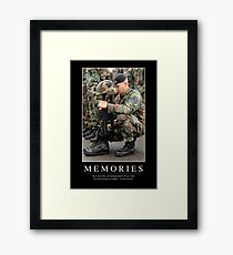 Memories: Inspirational Quote and Motivational Poster Framed Print